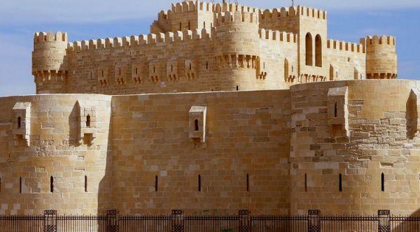 Qaitbay Citadel Low Cost Tourism, Alexandria, Egypt.