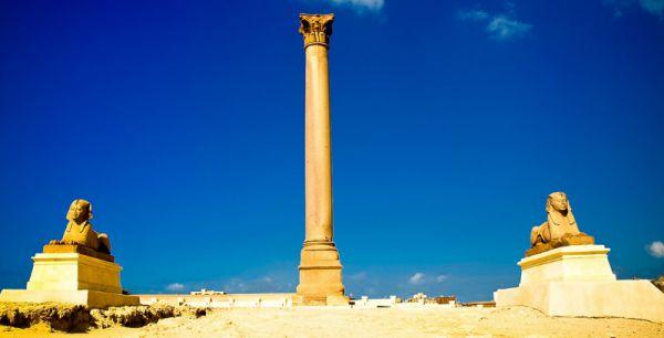 Pompey Pillar Trippers, Alexandria, Egypt.
