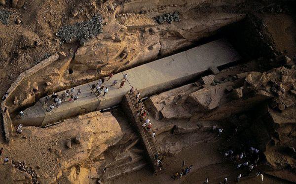 Unfinished Obelisk Tripping, Aswan, Egypt.