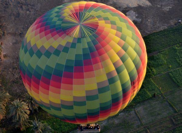 Hot Air Balloon Fly, Luxor, Egypt.