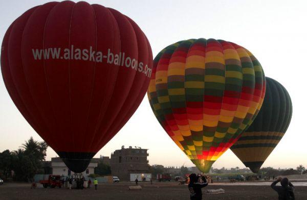 Hot Air Balloon Flying, Luxor, Egypt.