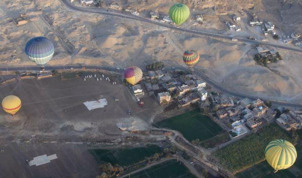 Hot Air Balloon Rides, Luxor, Egypt.