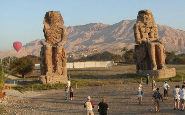 Colossi of Memnon, Budget Luxor Tour, Egypt.