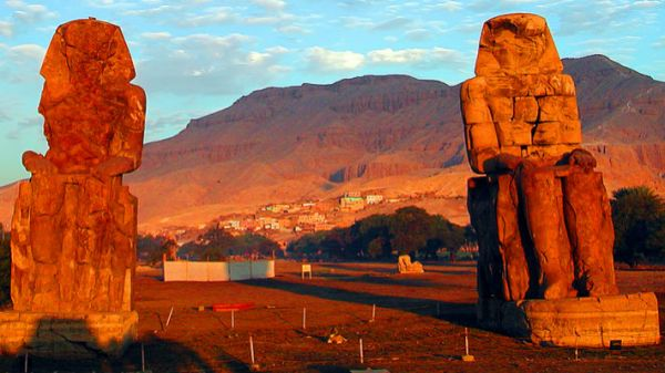 Colossi of Memnon, Discount Luxor Travel, Egypt.