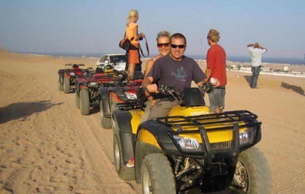 Quad Bikes Low Cost Safari in Arabian Desert.