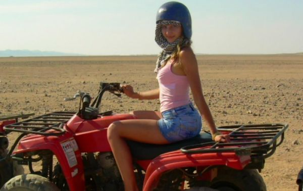 Quadbike Budget Adventure in Egypt Desert.