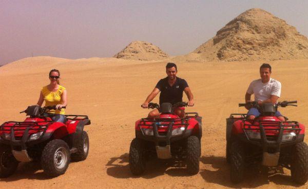 Quadrunners Adventure in Egypt Desert.