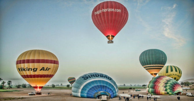 Hot Air Balloon Ride Tours Over Luxor